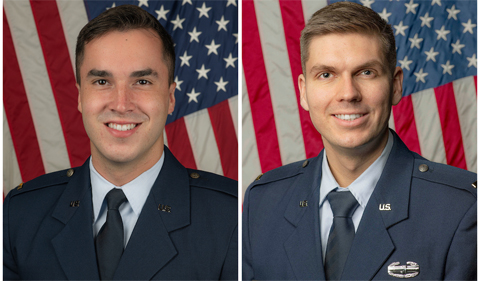 From left: Second Lieutenant Ethan R. Black and Second Lieutenant T. Aidan Pitts
