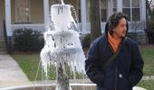 Jesus Toapanta on his way from Gordy to Alden Library in the winter of 2006-07.