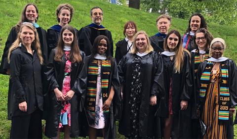Linguistics graduates at Commencement 2019