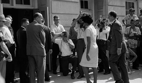 Photo from 1960s illustrating teacher workshop on racism