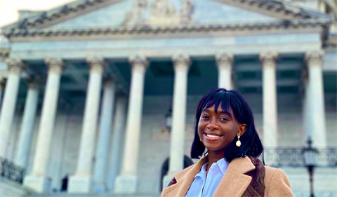 Sarah Ladipo at the U.S. Capitol