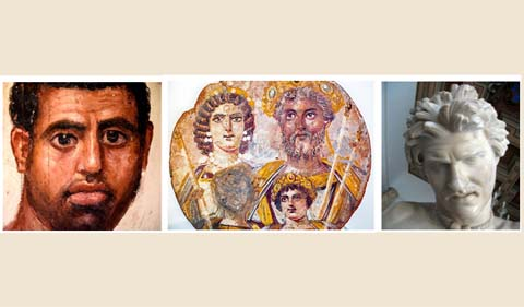 Images of ancient Romans and Greeks
