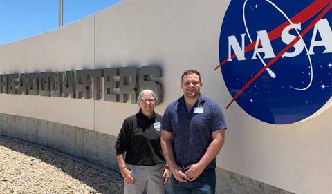 Drs. Sarah Wyatt and Al Meyers at NASA headquarters.
