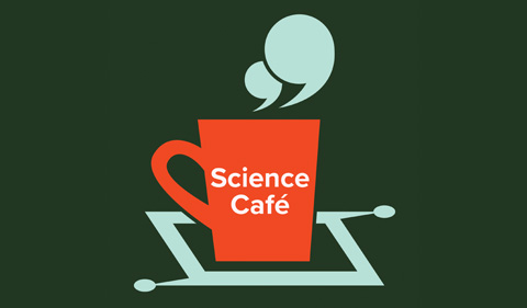 Science Cafe logo, with coffee cup